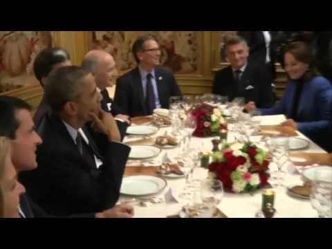 Dîner dans un trois étoiles pour Hollande et Obama