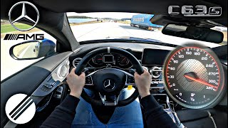 Mercedes-Benz C63S AMG W205 INFINITAS 720HP 970NM TEST DRIVE ON GERMAN AUTOBAHN🏎