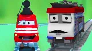 Vláček Troy a zloděj ve Městě Aut / Animák o autech a náklaďácích pro děti