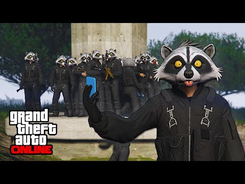 RACCOON SQUAD vs MILITARY! || GTA 5 Online || PC (Funny Moments)