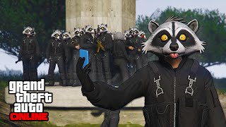 RACCOON SQUAD vs MILITARY! || GTA 5 Online || PC (Funny Moments)