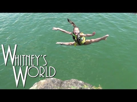 Cliff Diving Gymnast | Big Time at the Lake | Whitney & Blakely