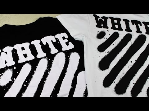 44061aed How To Spot Fake Off White | Real vs Replica Off White Diagonal Spray T- Shirt - YouTube