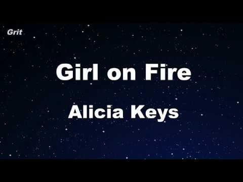 Girl On Fire - Alicia Keys Karaoke 【No Guide Melody】 Instrumental