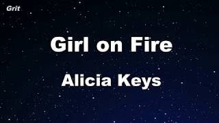 Girl On Fire - Alicia Keys Karaoke 【No Guide Melody】 Instrumental