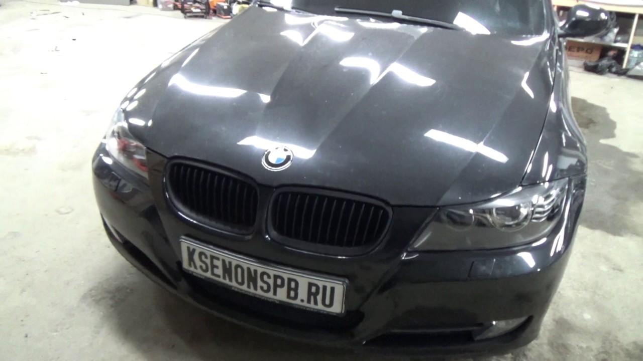 BMW E90 ремонт и чистка фар. Покраска фар изнутри