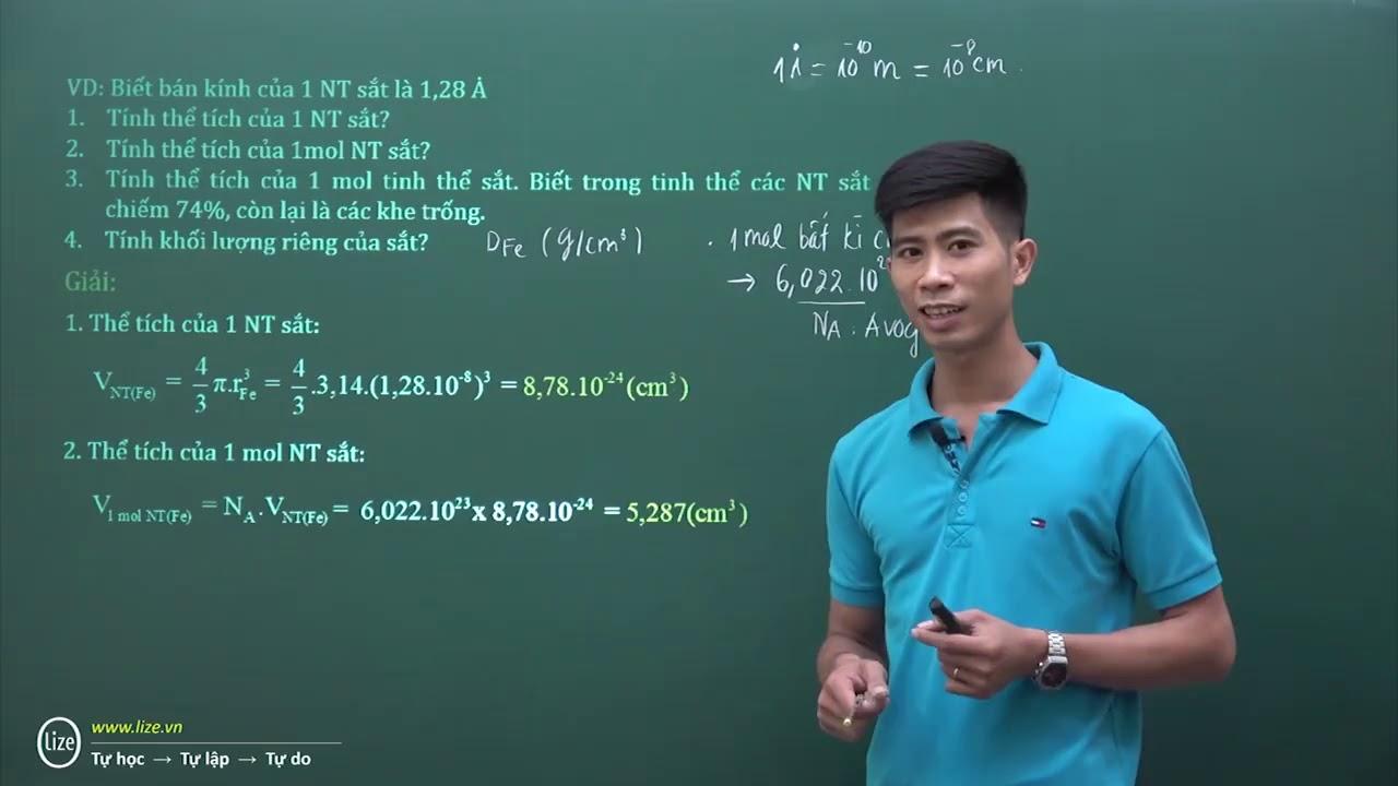 Bài toán tính khối lượng riêng – Hóa học THPT – Cùng Thầy Phạm Thắng giải quyết bài toán này nhé