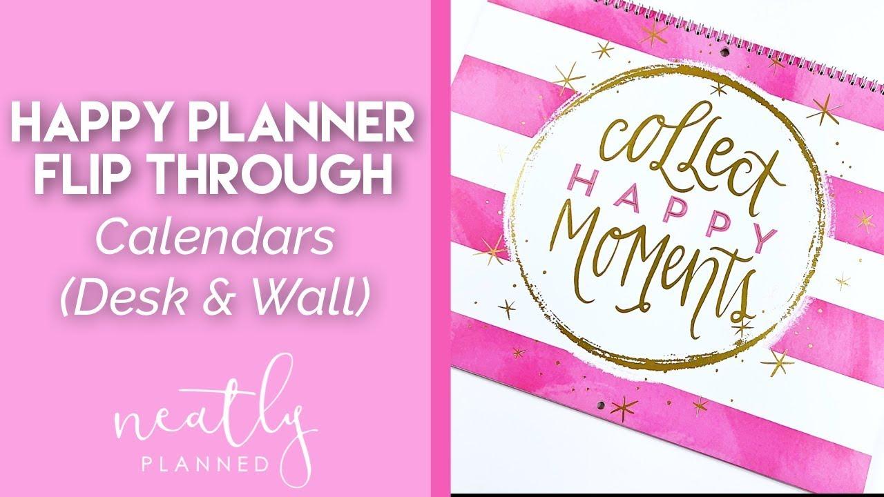 New Happy Planner Calendars Flip Through Youtube