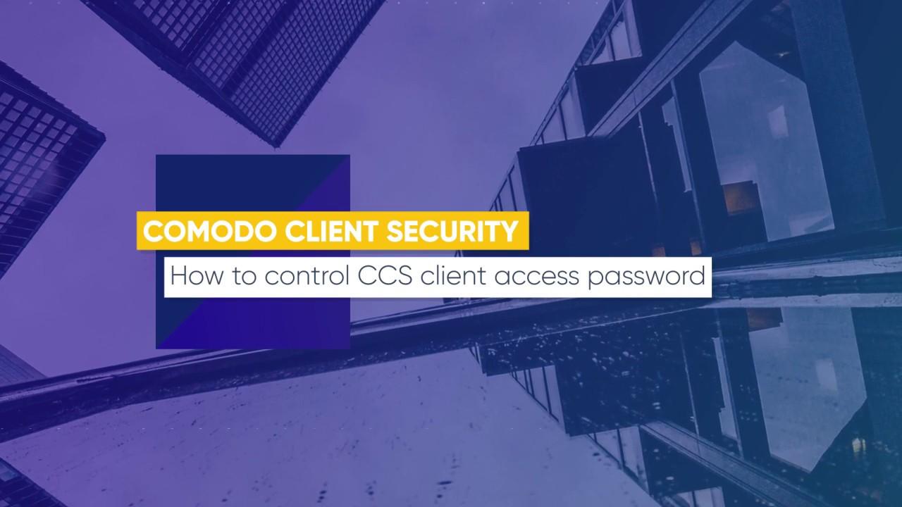 Lesson 13: How to control CCS client access password