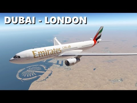 ✈️ [X-Plane 11] DUBAI (OMDB) - LONDON (EGLL) | EMIRATES A330
