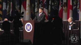 Gov. Rick Perry Speaks at the 132nd National Guard Assoc of the United States General Convention