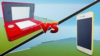 NINTENDO 3DS VS IPHONE - Minecraft Mod Versus