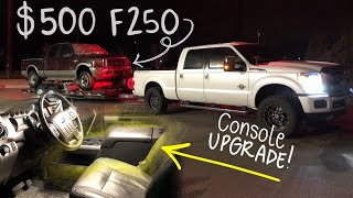 $500 6.0 Powertroke Ford F250?! | Center Console upgrade for my 2016 Lariat F350 super duty!
