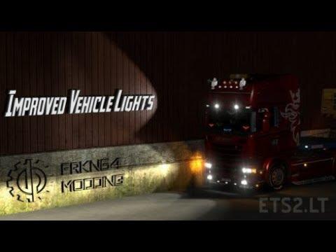 Euro Truck Simulator 2 | Mods | [Official] Improved Vehicle Lights: Normal  Version v 2 2 [1 28]