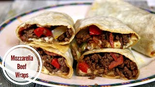 Ground Beef Roll Ups with Mozzarella