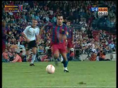FC Barcelone - FC Valence 1:0 Giuly