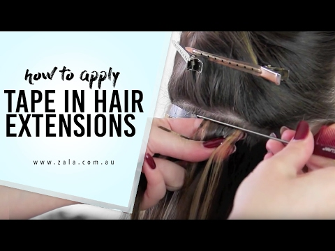 How To Apply ZALA Tape Hair Extensions YouTube