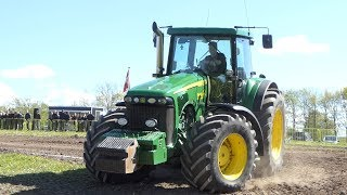 John Deere 8520 Winning The Pulling Trophy at Jerslev Arena   Pure Power   Tractor Pulling DK