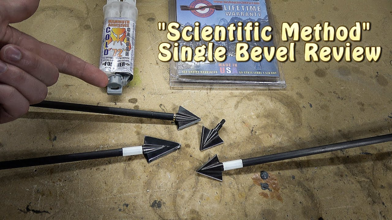 bishop scientific method broadhead review - single bevel
