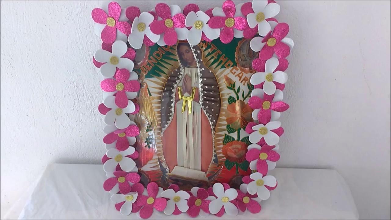 Como decorar la imagen de la virgen de guadalupe 12 de for Manualidades para diciembre
