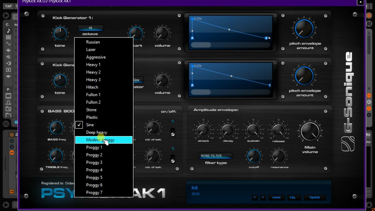 PsyKick AK1 - VSTi psytrance / darkpsy / goatrance / proggy drum kit