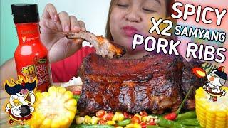 SPICY X2 SAMYANG PORK RIBS MUKBANG