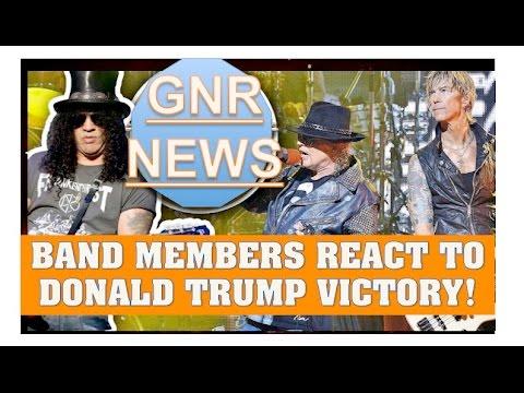 Guns N' Roses News Band Members React to Donald Trump Winning US Election