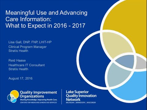 Meaningful Use and Advancing Care Information What to Expect in 2016-2017