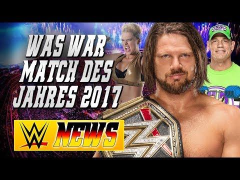 Was war Match des Jahres 2017, Gegner für John Cena bei WrestleMania | WWE NEWS 1/2018