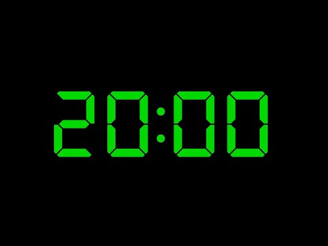 20 Minute Timer No Music with Alarm LCD 7 Segment Green