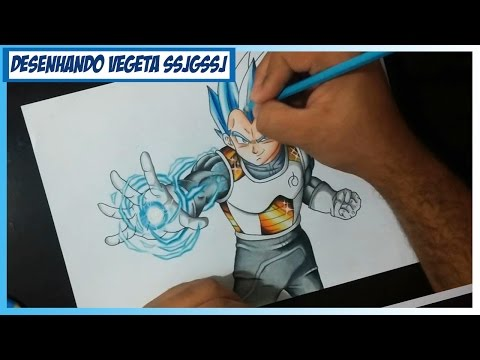 DESENHANDO VEGETA SUPER SAIYAJIN DEUS SUPER SAIYAJIN - HOW TO DRAW VEGETA SSJGSSJ