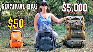$50 Survival Bag Vs. $5000 Survival Bag • Survival Kits