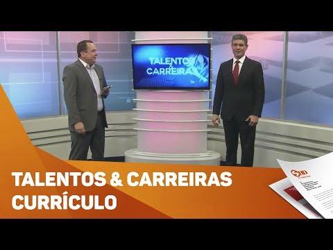 Quadro Talentos & Carreiras: currículo  - TV SOROCABA/SBT