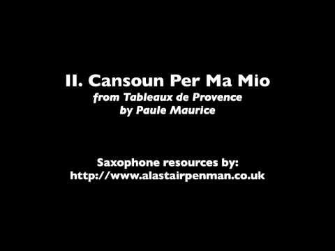 II. Cansoun Per Ma Mio from Tableaux de Provence by Paule Maurice