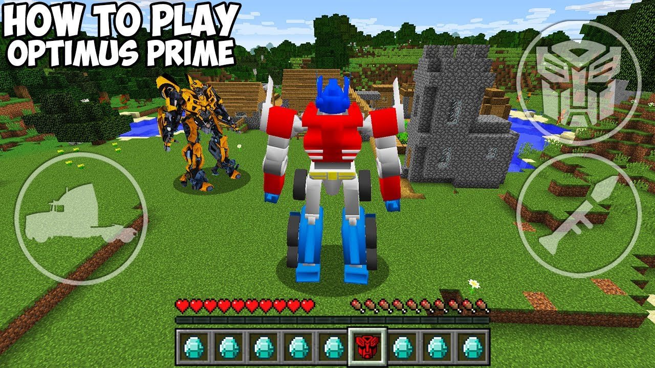 Download HOW TO PLAY OPTIMUS PRIME in MINECRAFT REAL AUTOBOT vs TRANSFORMERS Minecraft GAMEPLAY Movie traps