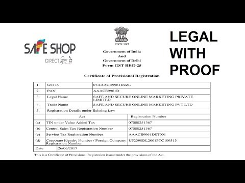 SAFE SHOP: Fully Legal Business with 100% Proof || SAFE SHOP INDIA