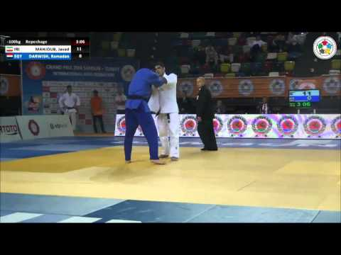 Javad MAHJOUB (IRI) Vs Ramadan DARWISH (EGY) - Judo Grand Prix Samsun 2014 [-100kg]