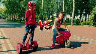 Funny Race in the summer park Den vs Mom