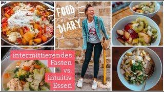 FOOD DIARY. Intermittierendes Fasten & Intuitive Ernährung. Geht das? Abnehmen ohne Diät.