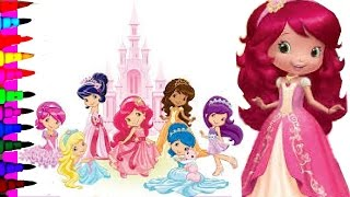 Coloring book pages of strawberry shortcake