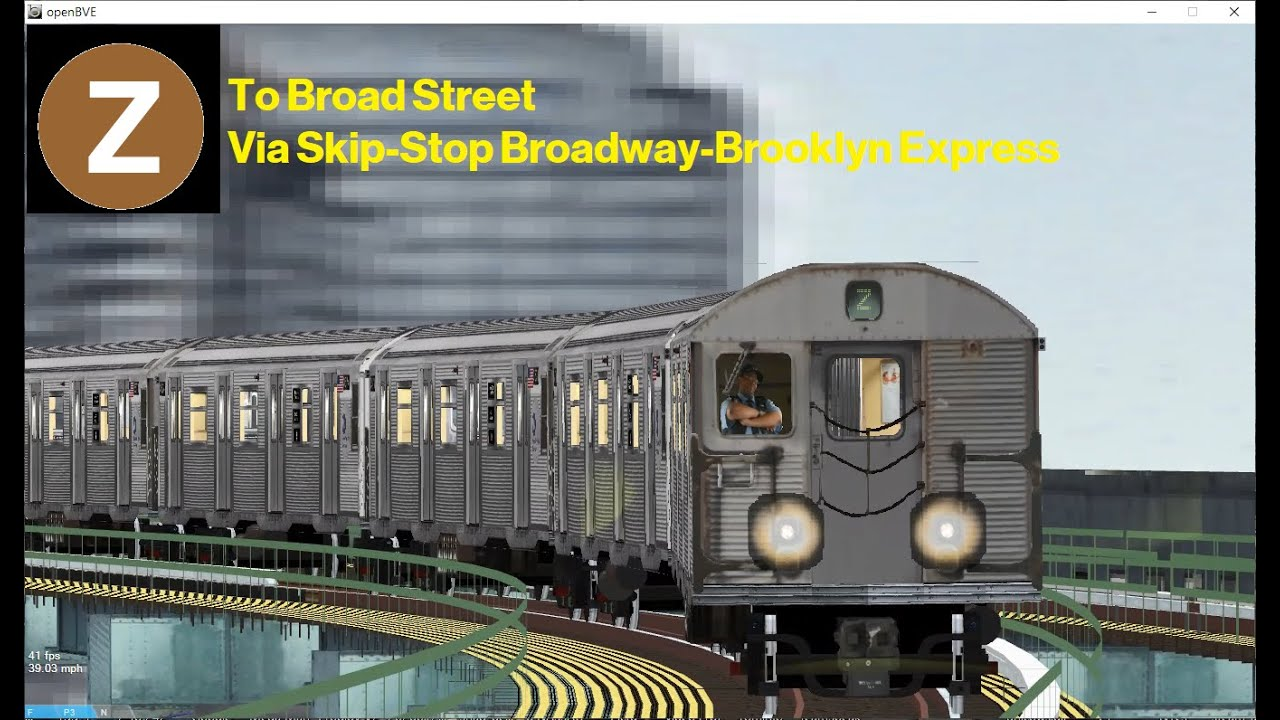 OpenBVE (Z) Jamaica Center To Broad Street (R32)(AM Rush)