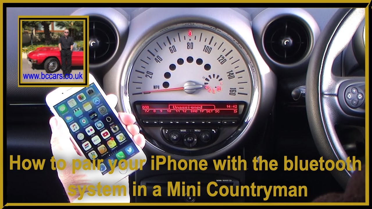 How To Pair Your Iphone With The Bluetooth System In A Mini