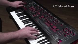 Roland JD-XA Synthesizer Ver.1.50 Preset Sound Examples: A02 Masaki Brass
