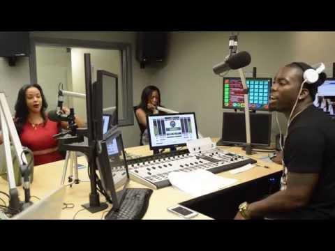 Masika Kalysha at 102 Jamz radio station in North Carolina