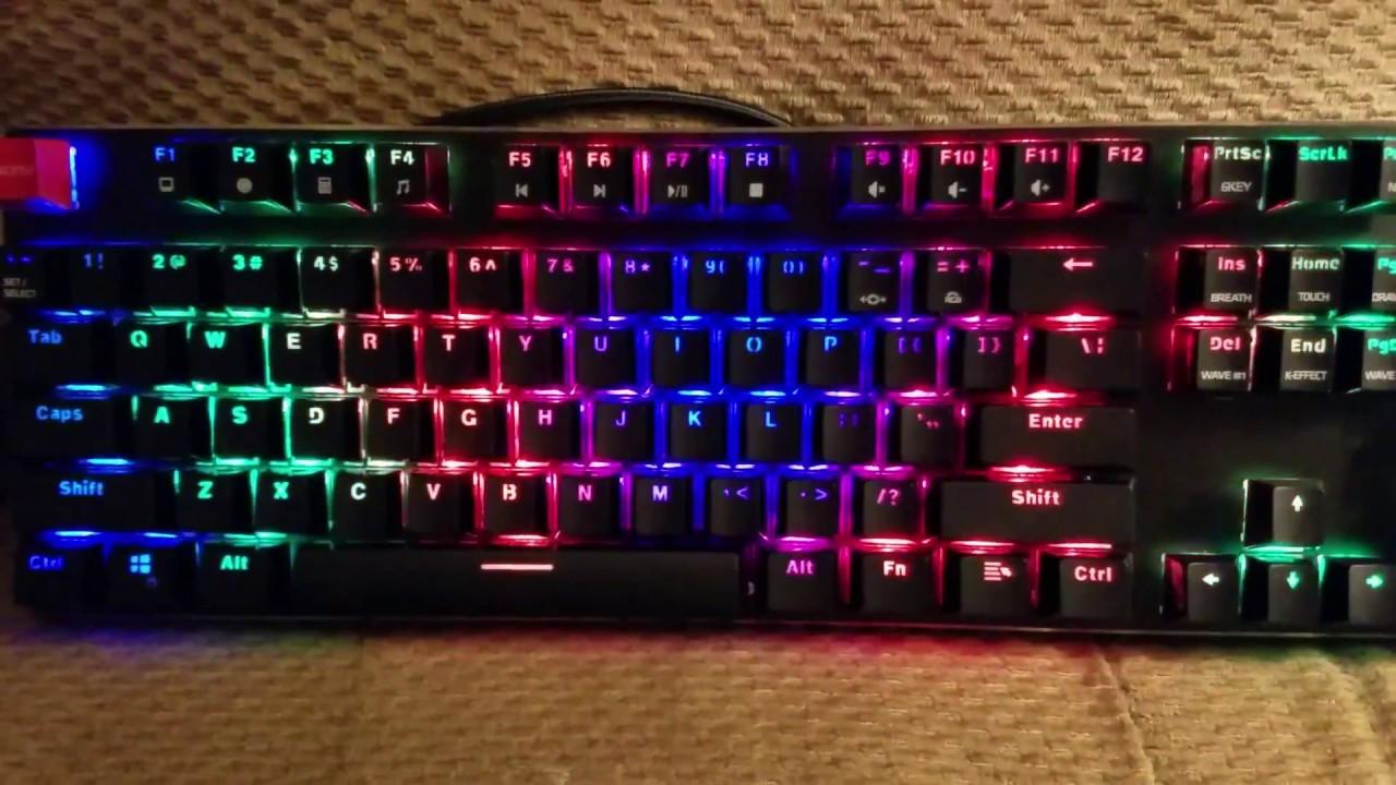50e5cf18c56 LED modes on Glorious RGB Modular Keyboard v2 (GMMK-BRN) - YouTube