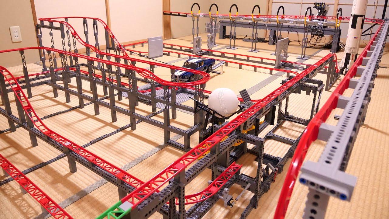 Lego roller coaster track: a 68-meter GoPro trip レゴ 68mコース車載カメラ