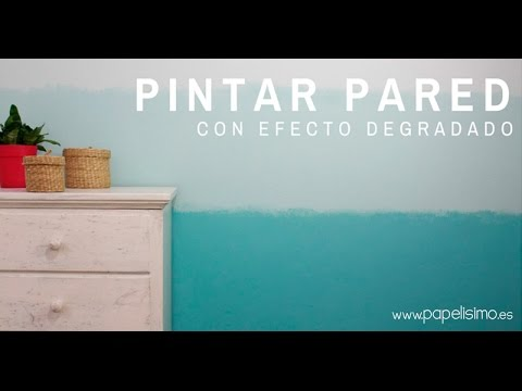 Pintar pared con efecto degradado azul  YouTube