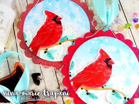 Studio Monday with Nina Marie: Stamped Ornaments & Hero Arts