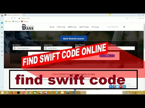 Find swift code of any branch online || swift code || find swift code hindi tutorial thumbnail