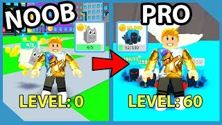 Noob To Pro! Full Team Of Dominus Pets! Level 60 Max Speed! Roblox Pet Walking Simulator